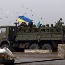 Russian KAMAZ truck carrying Ukrainian soldiers   © Stepan Petrenko/TASS