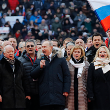 Enormous Crowd Packs Moscow Stadium to Sing Russian Anthem With Vladimir Putin - Western Media Heads Explode