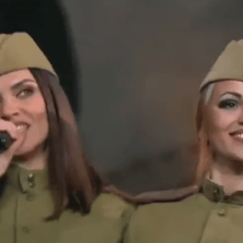 Stunning Russian Folk Singers in Retro Uniforms Perform Wartime Favorite (Video)