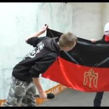 Поляки оплевали флаг УПА