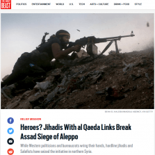 This Daily Beast headline (8/8/16) was an unusually direct acknowledgement of Al Qaeda's role in Aleppo.