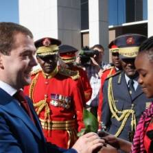 Russian President Dmitry Medvedev during a welcome ceremony in front of the State House in Namibia's Windhoek in June, 2009   Photo: RIA Novosti