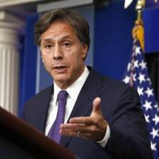 Blinken's comments followed indications of a widening administration split over Ukraine.