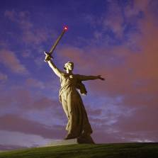 February 2, 2015 — 72nd Anniversary of the Victory at Stalingrad | The Motherland Calls monument in Volgograd, raised for heroes of the Battle of Stalingrad