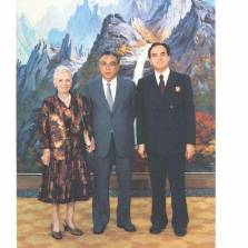 Kim Il Sung with Giancarlo Elia Valori and Signora Emilia Marinelli