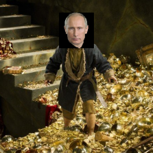 Putin walking around the Kremlin