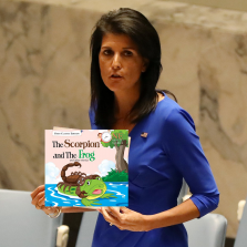 Haley presents book report to UN Security Council
