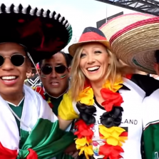Huge Crowd of Mexican Fans Going Wild in Moscow (Video)
