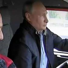 Putin Drives Mack Truck Across Multi $ Billion Crimea Bridge - His Emotional Ad Lib Speech (Video)