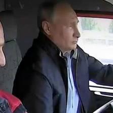 Putin Drives Mack Truck Across Multi $ Billion Crimea Bridge - His Emotional Ad Lib Speech (Video)