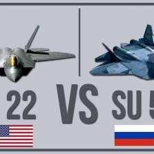 What Happens If America's F-22 Battled Russia's Su-57