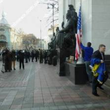Symbols of Ukraine's sovereignty take a back seat when the Americans are in town
