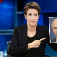 Fuming Rachel Maddow Spends Entire Show Just Pointing Wildly at Picture of Putin