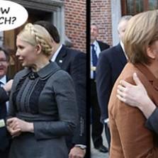 Merkel and Tymoshenko, sitting in a tree...