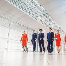 Aeroflot flight-attendants wear the most elegant uniform according to the global search system Yahoo.com