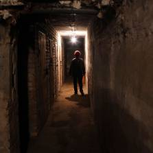 Living underground in bomb shelters and cellars has become a way of life for people near the rebel-held city of Donetsk as war rages between rebel and government forces above ground