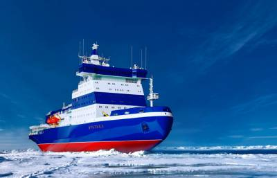 Сomputer-generated image of the Arktika Project 22220 icebreaker (archive) | Photo: ATOMFLOT/HANDOUT