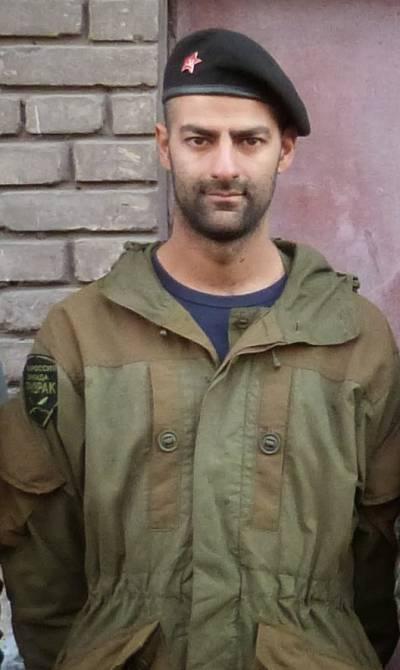 Spanish volunteer Sergio Becerra