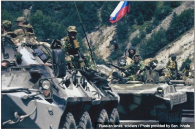 the daily stirrer -Russian tanks roll through The Gorbals between Russia and Ukraine