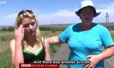 MH17 Witnesses Tell BBC They Saw Ukrainian Jet. BBC Deletes Video (see it here) Shootdown