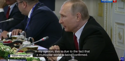 Putin knows the US doesn't want a multipolar world