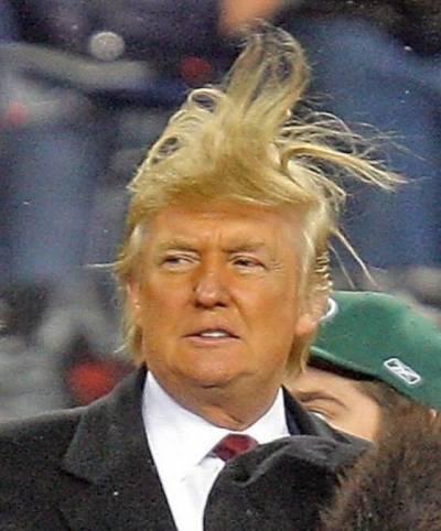 Trump's fake hair, contacting the mothership