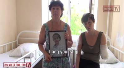 Message to Poroshenko from a women that lost her child and husband as a result of Ukrainian shelling