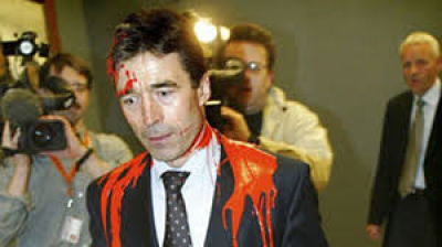 Rasmussen has blood on his conscience and paint on his shoulders