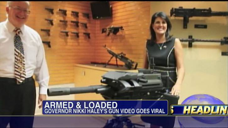 She doesn't need a massive machine gun. Every time she opens her mouth, thousands commit suicide