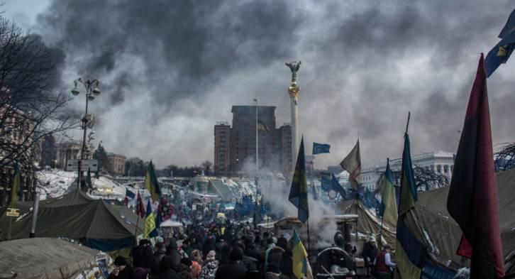 <figcaption>The camp of pro-European integration protesters on Maidan Nezalezhnosti in Kiev | Photo: Andrey Stenin, © Sputnik</figcaption>