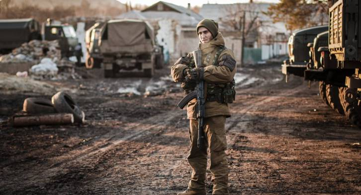 <figcaption>No military objective was achieved by continuing to defend Debaltseve when its capture by the militia was just days away.  </figcaption>
