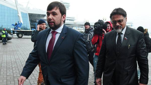 <figcaption> Two of the political leaders of DPR & LPR.</figcaption>