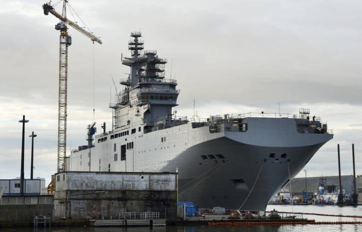 Mistral ship under construction | © Michelle Plassard/TASS
