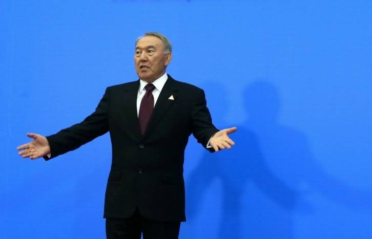 <figcaption>Nazarbayev has been the leader of Kazakhstan since 1989. </figcaption>