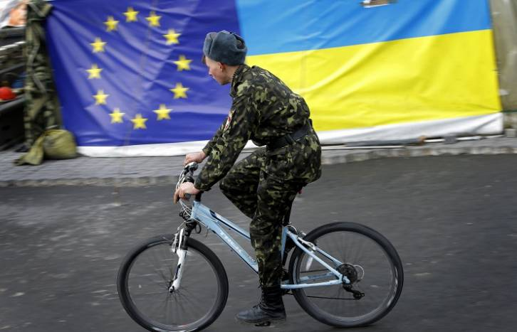 <figcaption>There will be no delays and no amendments in the text of this agreement, the Ukrainian premier said.</figcaption>