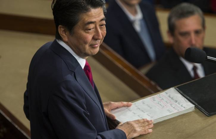 <figcaption>Japanese Prime Minister Shinzo </figcaption>