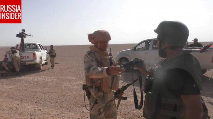 <figcaption>A Russian advisor embedded with the advancing Syrian forces</figcaption>