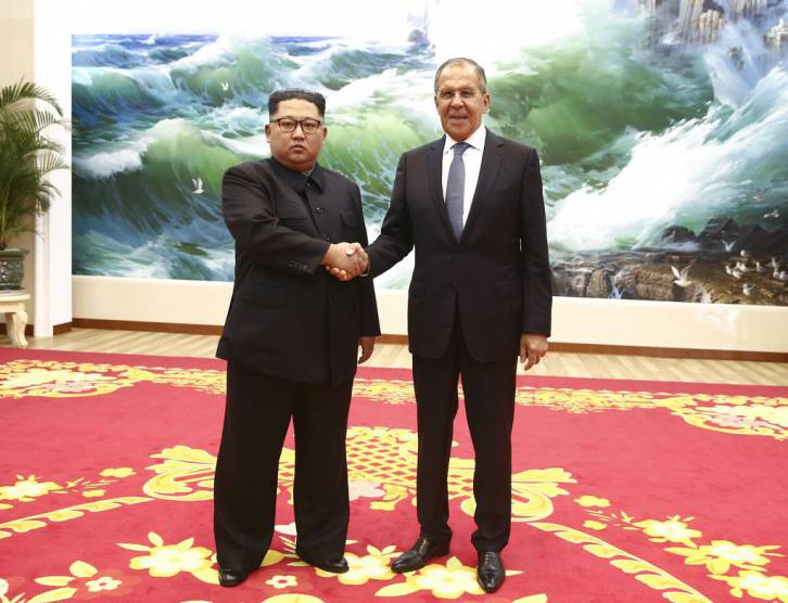 <figcaption>Lavrov traveled to Pyongyang and quickly agreed to a Putin-Kim summit</figcaption>