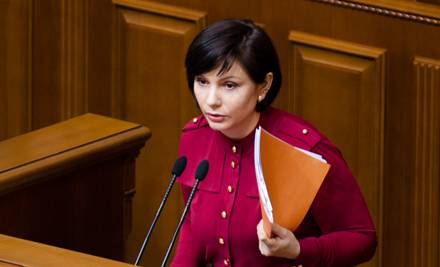 <figcaption>Rada deputy Elena Bondarenko</figcaption>