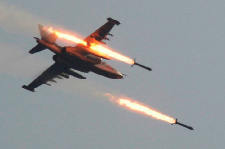 <figcaption>Russia has flown over 600 sorties supporting the Kurdish-dominated SDF</figcaption>