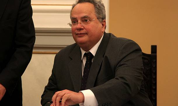 <figcaption> In recent months, Kotzias wrote on Twitter that sanctions against Russia weren't in Greece's interests.</figcaption>