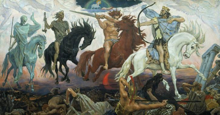 "<figcaption>Vasnetsov's ""War of the Apocalypse"" </figcaption>"