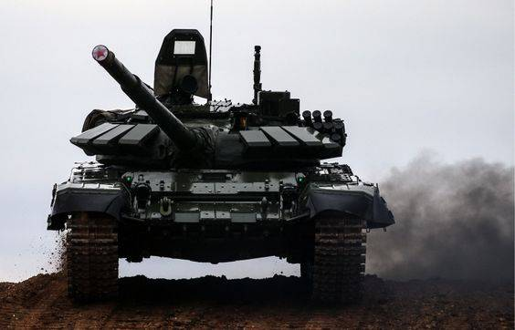 <figcaption>The upgraded T-72B3 tanks constitute the bulk of Russia's tank fleet</figcaption>
