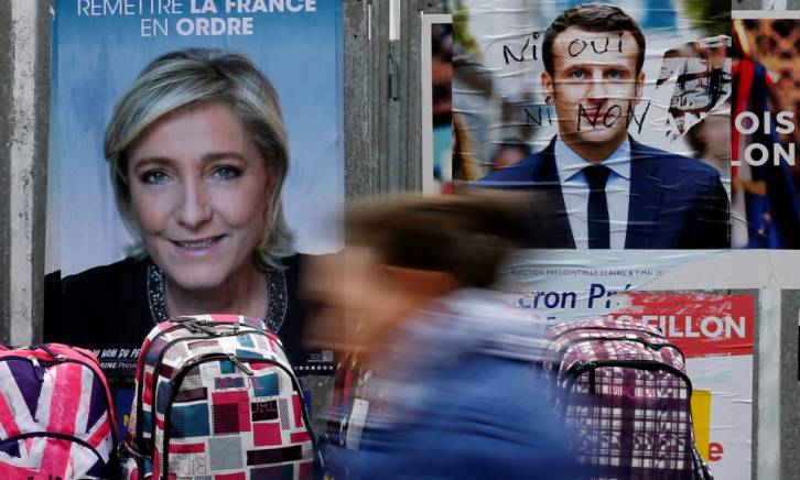 <figcaption>Only the terminally naïve may believe Macron incarnates change when he's the candidate of the EU, NATO, the financial markets, the Clinton-Obama machine, and the French establishment</figcaption>