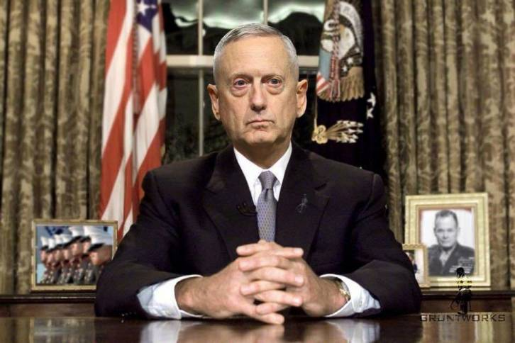 <figcaption>Just a few months ago Mattis was still Trump's most influential lieutenant and key in making sure Trump's Syria strikes were coordinated with Russia so as not to snowball into a larger war</figcaption>