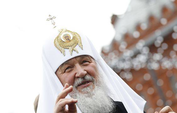 <figcaption>Patriarch Kirill, head of the Russian Church</figcaption>