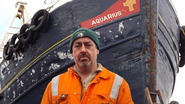 <figcaption>Angus MacLeod (pictured) a fishing boat skipper, has lodged an incident report with the Maritime and Coastguard Agency and the Marine Accident Investigation Branch following the unusual occurence</figcaption>