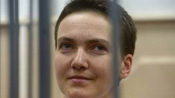 <figcaption>Savchenko was arrested in Russia last summer on charges of complicity in the murder of two Russian TV journalists during hostilities in Donbas and on illegally crossing the border into Russia</figcaption>