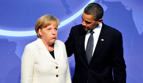 <figcaption>Obama gently caressing his favorite German poodle</figcaption>