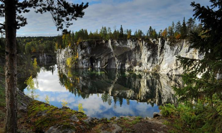 <figcaption>Marvel at … Marble canyon, Ruskeala, Karelia</figcaption>